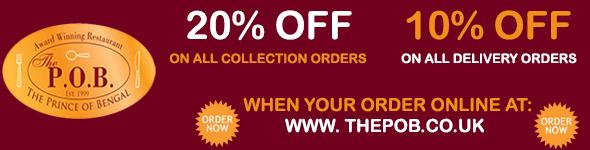 Discount on Takeaway Orders