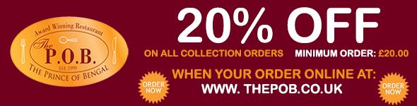 20% Off on Takeaway Orders